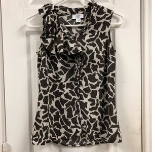 LOFT Cheetah Print Blouse